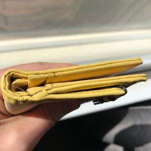 Coach Bags - Coach mini Soho wallet canvas yellow patent